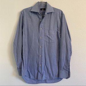 Balenciaga mens bluebutton down shirt 39 15 1/2
